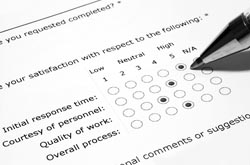 survey form printing services from cleardata